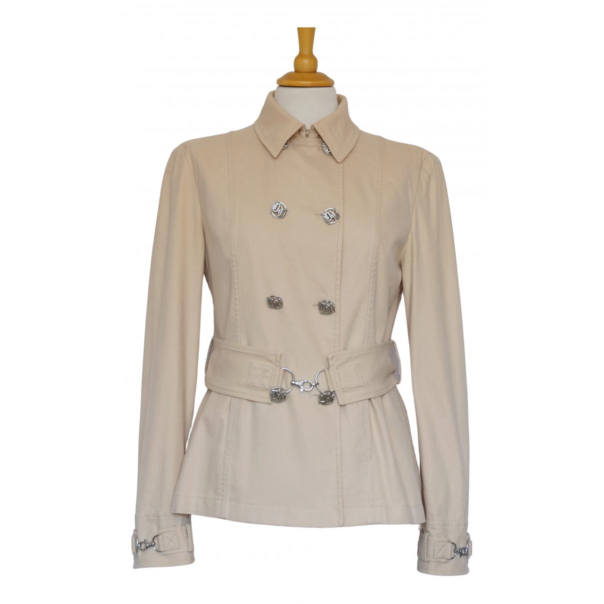 Gianni Versace \N Beige Cotton jacket for Women 8 UK