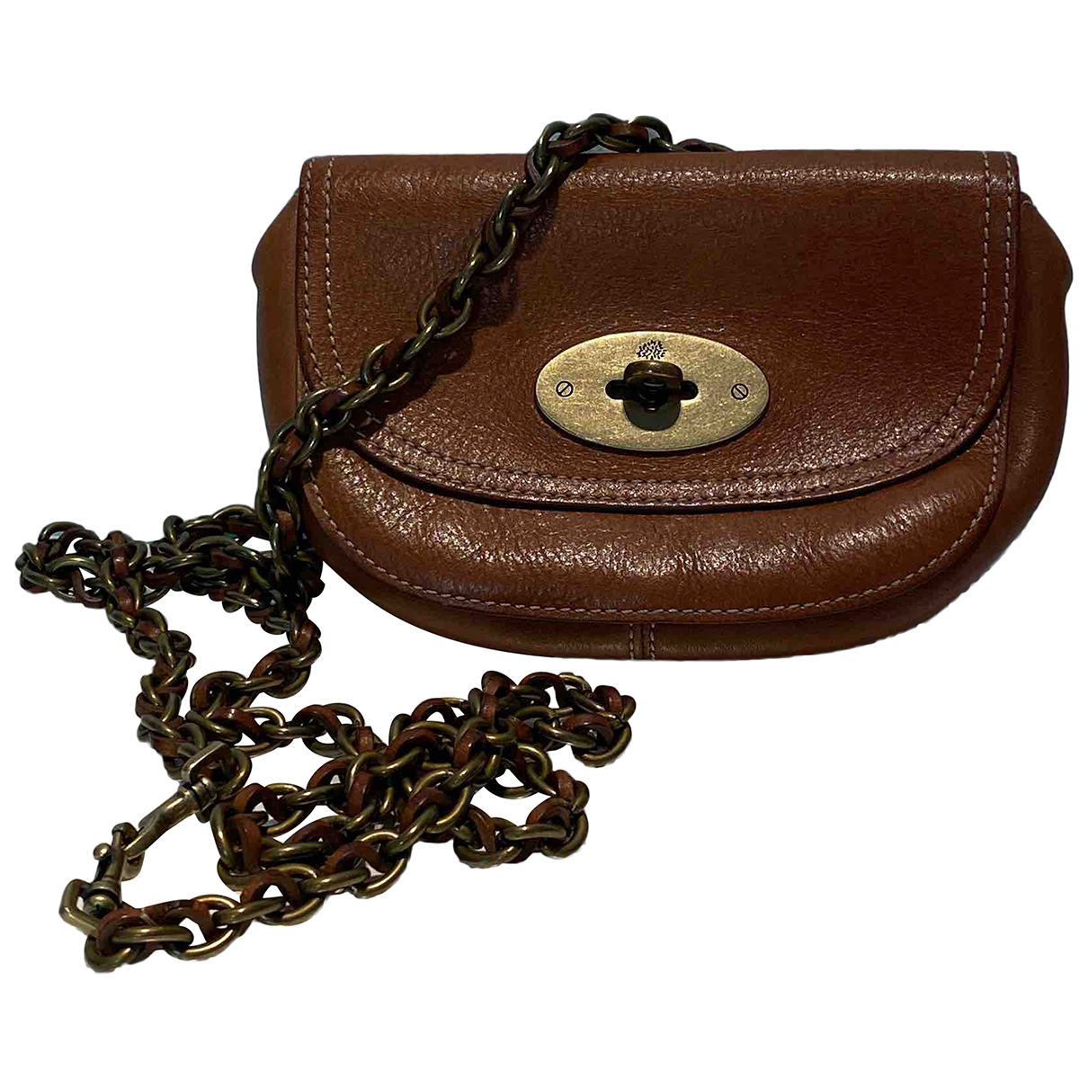 Mulberry Lily Brown Leather Clutch bag for Women N