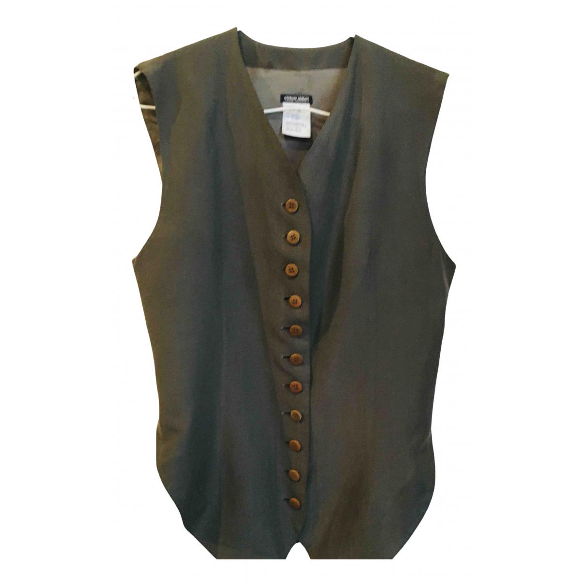 Giorgio Armani N Green Silk Knitwear for Women 38 FR