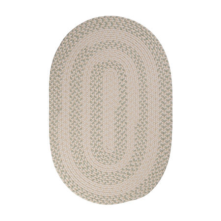 Colonial Mills Softweave Braided Oval Reversible Indoor Rugs, One Size , Green