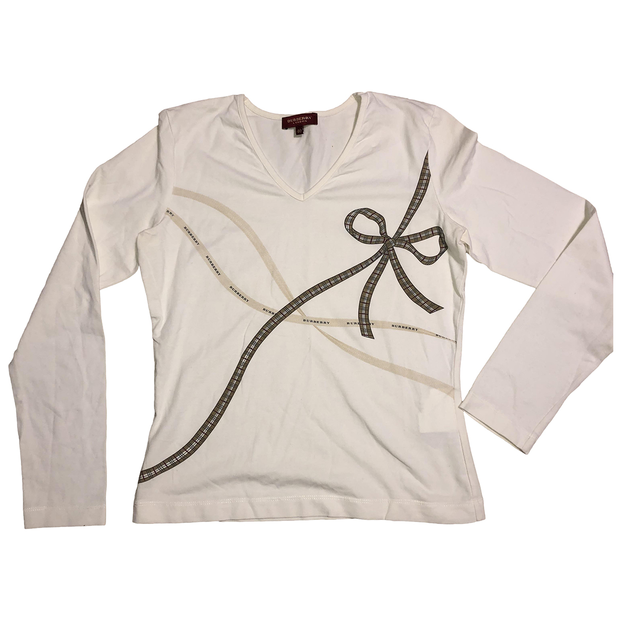 Burberry N White Cotton  top for Women 40 IT