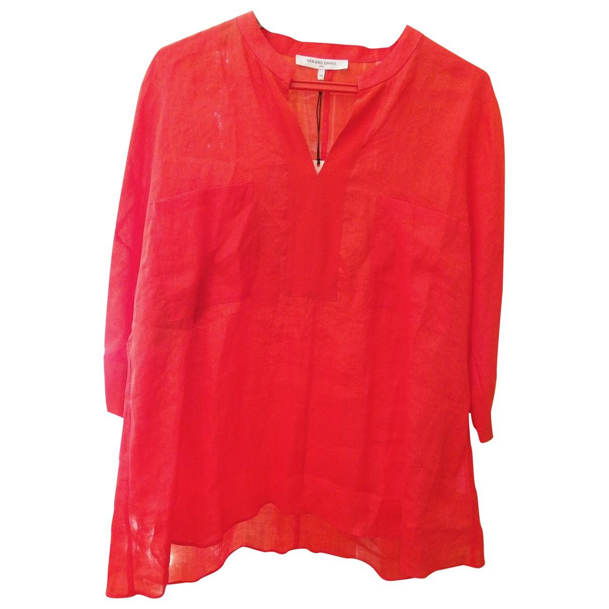 Gerard Darel - Top   pour femme en soie - rouge