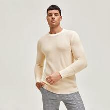 Men Solid Sweater