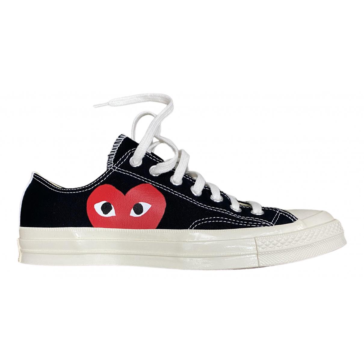 Converse X Play Comme Des Garcons \N Sneakers in  Schwarz Leinen