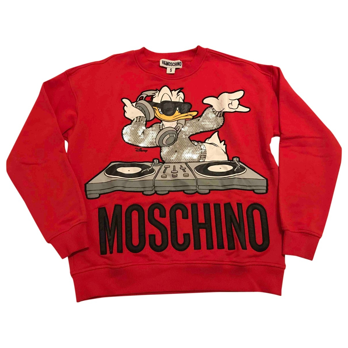 Moschino For H&m \N Pullover in  Rot Baumwolle