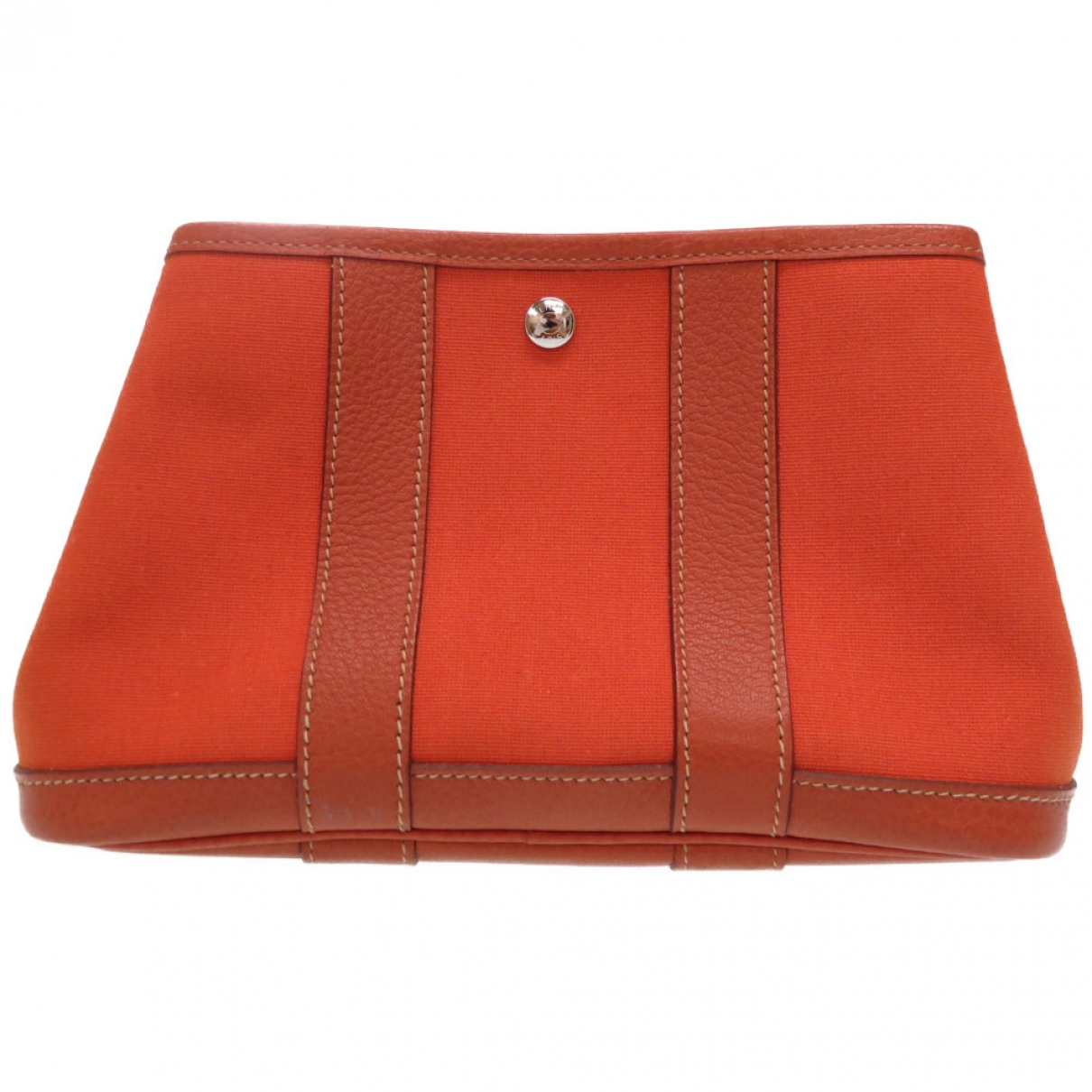 Hermes \N Clutch in  Orange Leinen