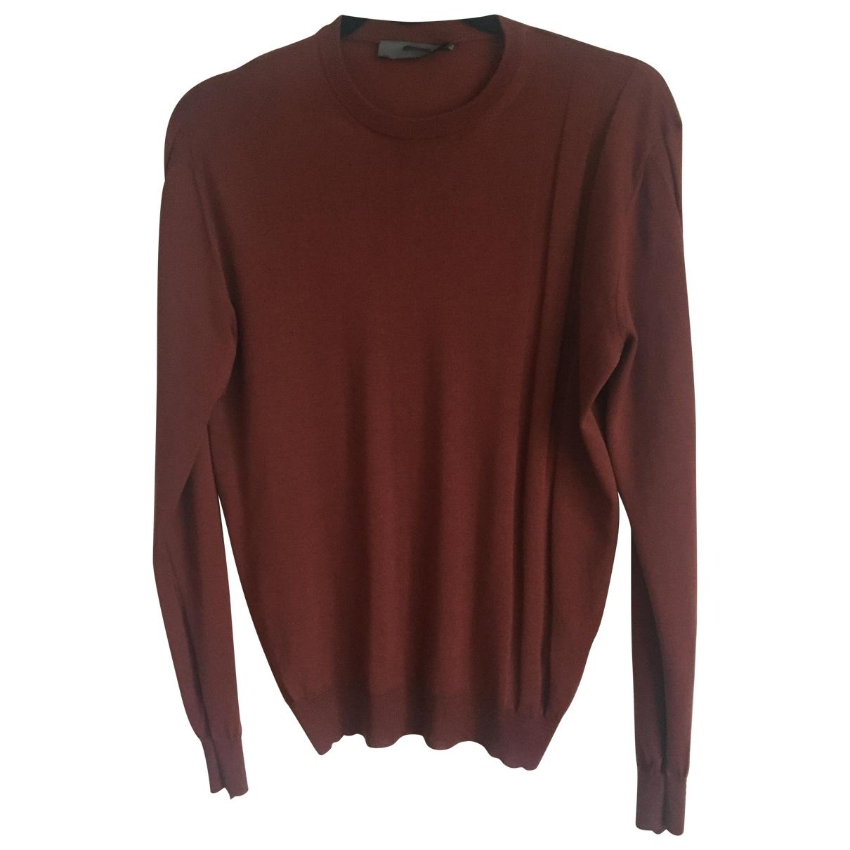 Bally \N Pullover.Westen.Sweatshirts  in  Bordeauxrot Wolle