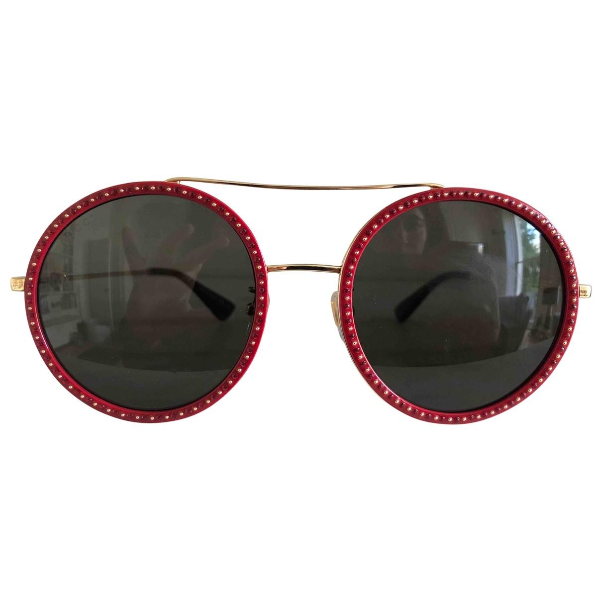 Gucci - Lunettes   pour femme en metal - rouge