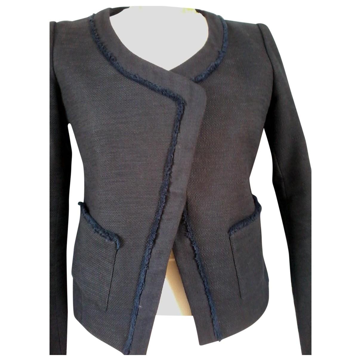 Maje \N Navy Cotton jacket for Women 38 FR