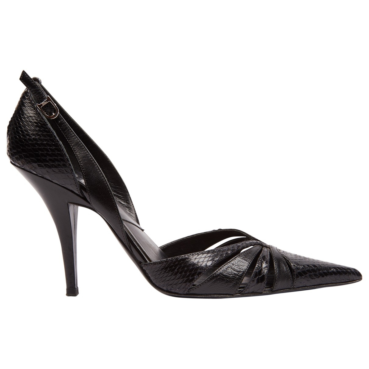 Dior \N Black Water snake Heels for Women 36.5 EU