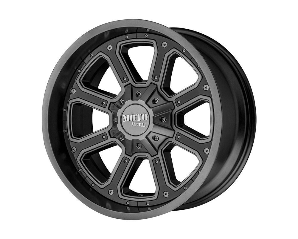 Moto Metal MO98429078418 MO984 Shift Wheel 20x9 6x6x120/6x139.7 +18mm Matte Gray Gloss Black Inserts