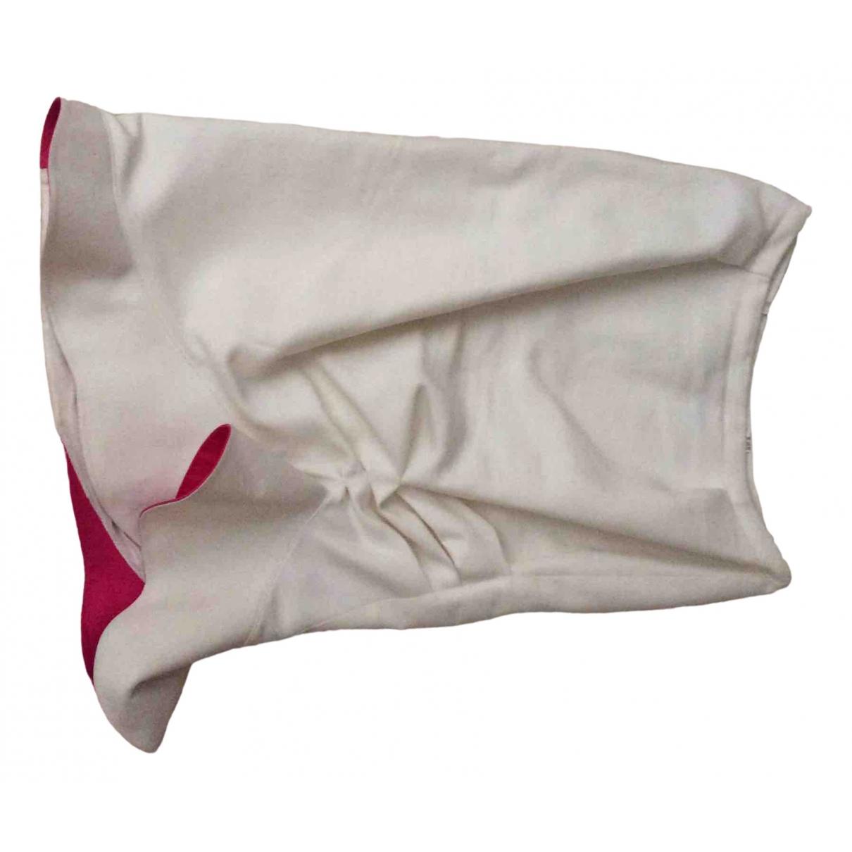 Thierry Mugler \N Ecru skirt for Women 36 FR