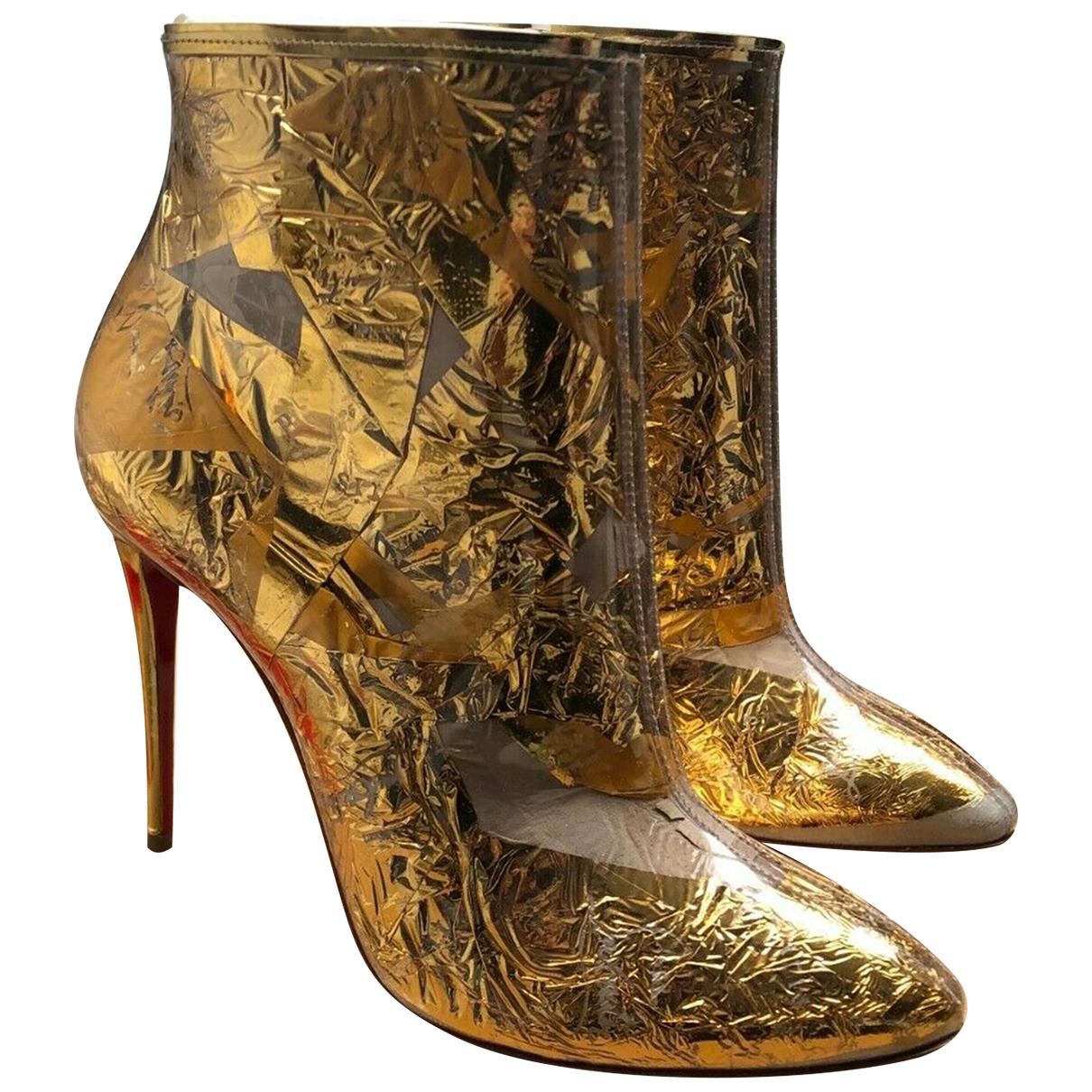 Christian Louboutin \N Stiefeletten in  Gold Kunststoff