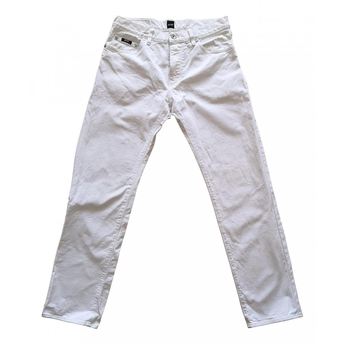 Boss \N White Cotton Jeans for Men 32 US