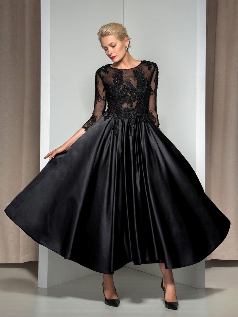 Ericdress 3/4 Long Sleeve Appliques Asymmetrical Length Evening Dress