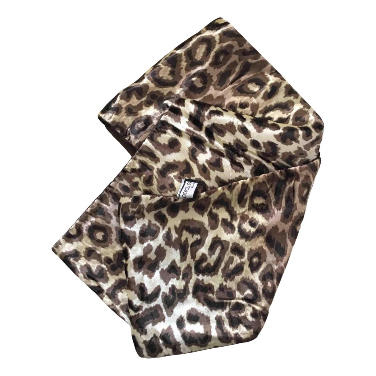Dolce & Gabbana \N Schal in  Braun Seide