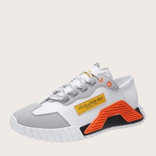 Guys Color Block Lace-up Front Sneakers