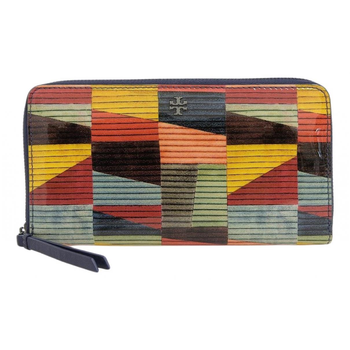 Tory Burch - Portefeuille   pour femme en cuir verni - multicolore