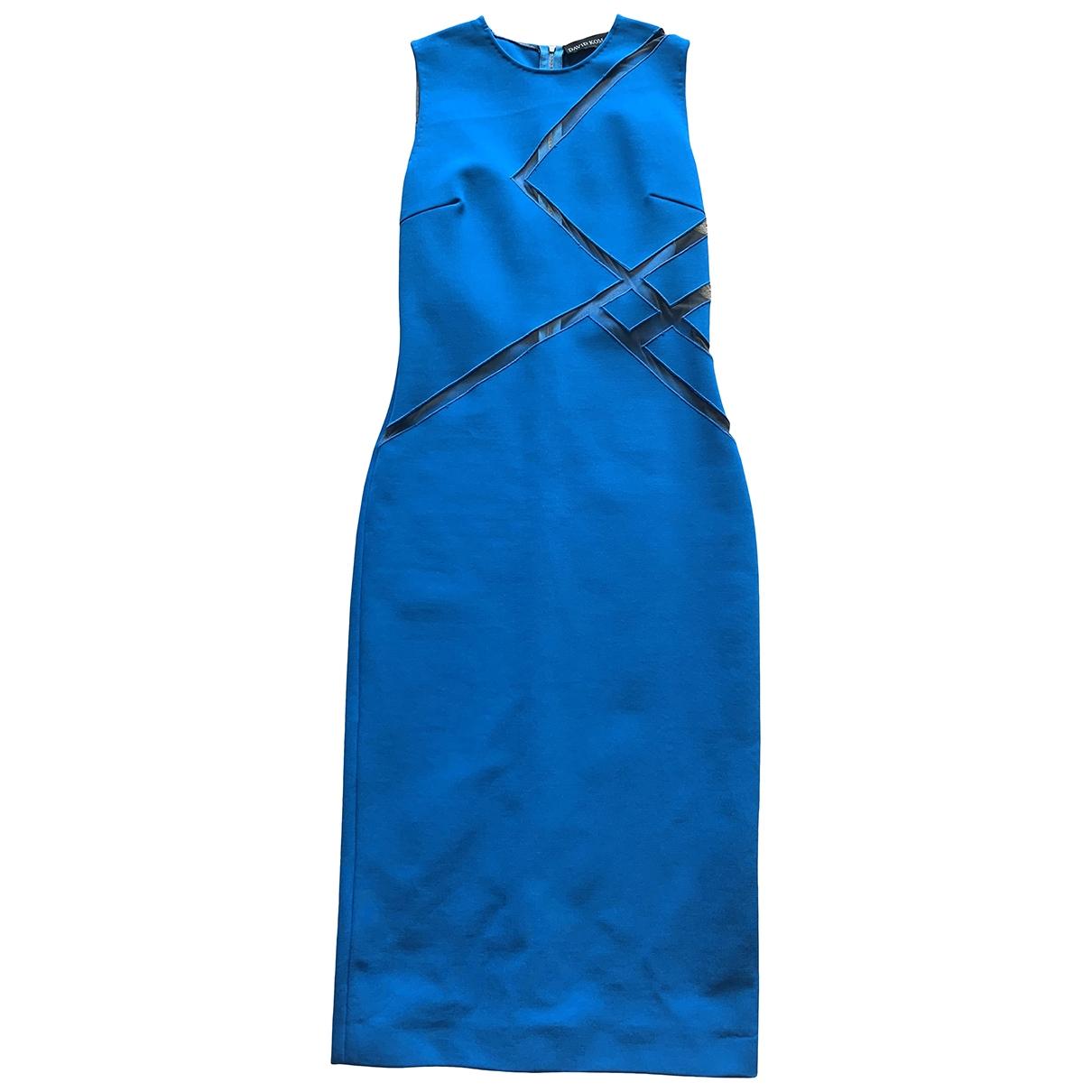 David Koma \N Kleid in  Blau Viskose