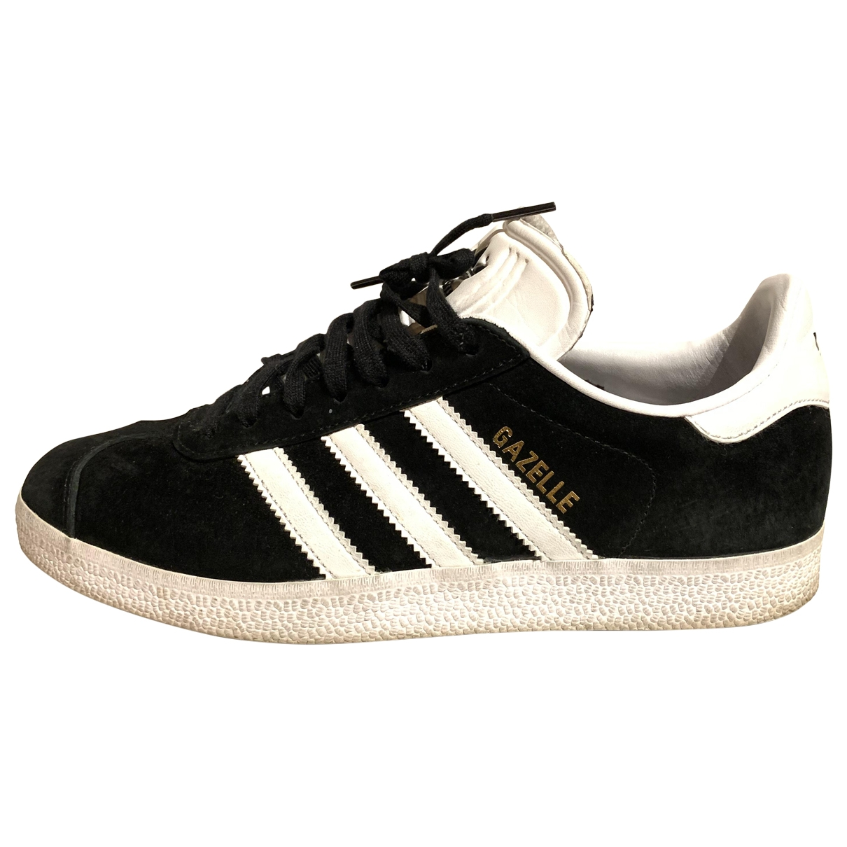 Adidas Gazelle Black Suede Trainers for Women 6 US