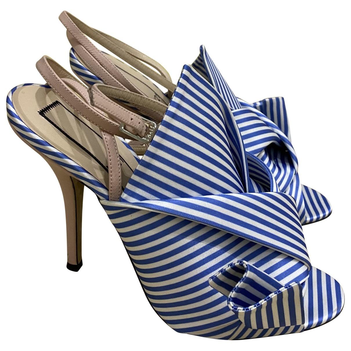 N°21 - Sandales   pour femme en toile - multicolore