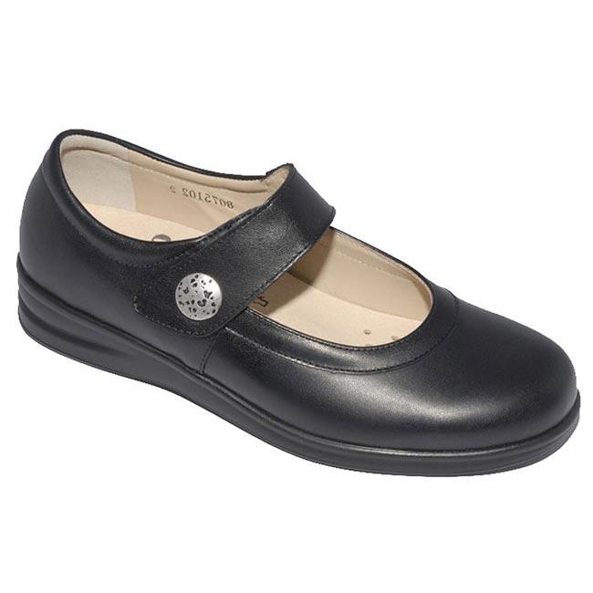 Finn Comfort Harumi Black Leather 7 Uk