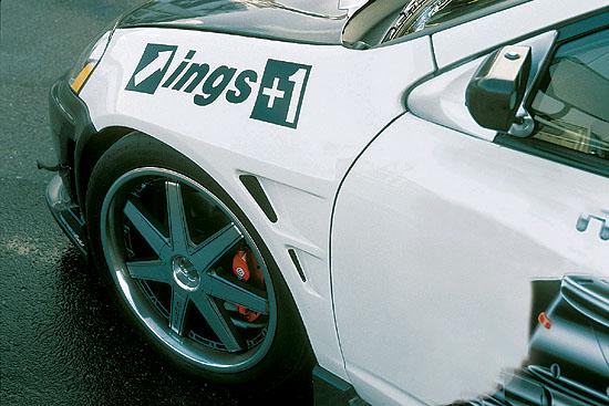 INGS N-Spec Front Aero Wide Fenders FRP Acura RSX 7/01-8/04