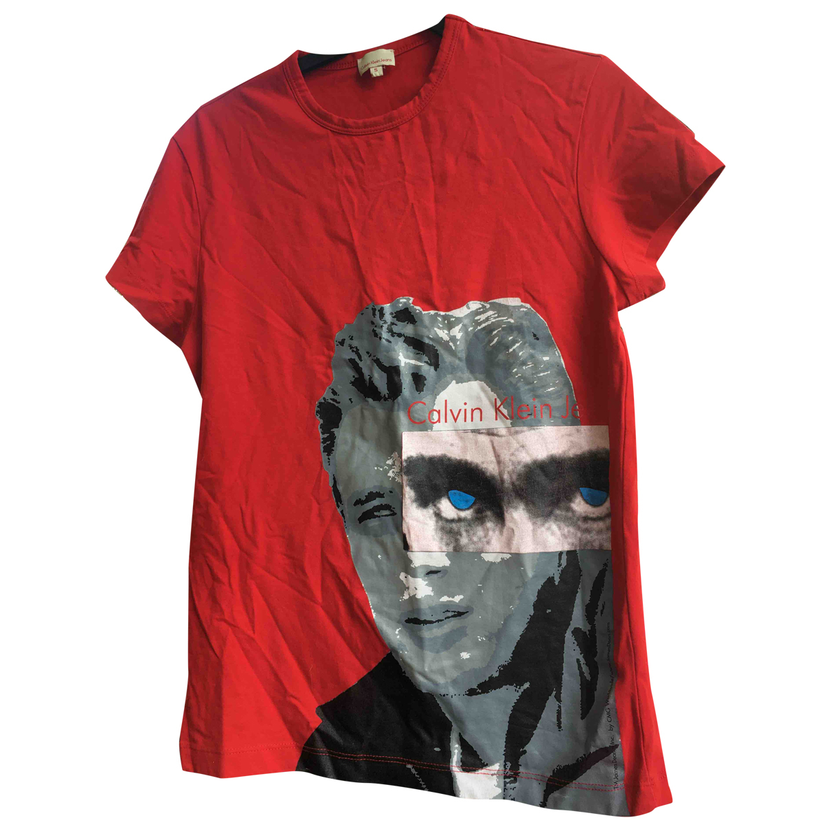 Calvin Klein - Tee shirts   pour homme en coton - rouge