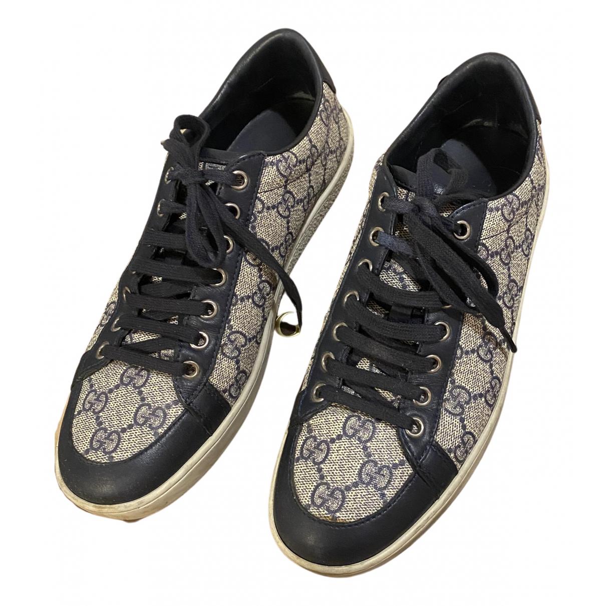 Gucci \N Sneakers in  Blau Leinen