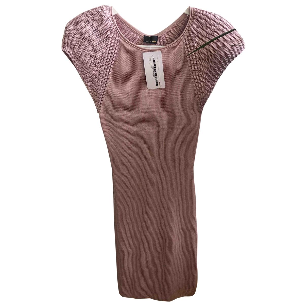 Fendi \N Pink Cotton dress for Women 38 FR