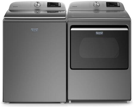 Smart Capable Metallic Slate Top Load Laundry Pair with MVW6230HC 28