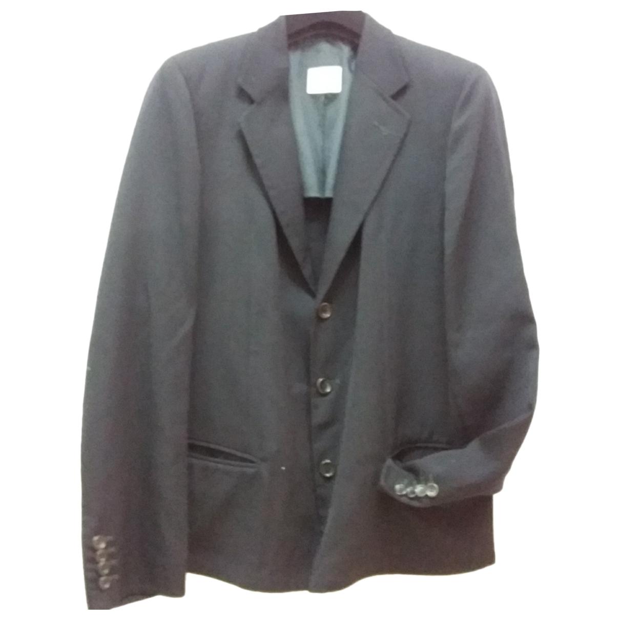 Emporio Armani - Vestes.Blousons   pour homme en laine - bleu
