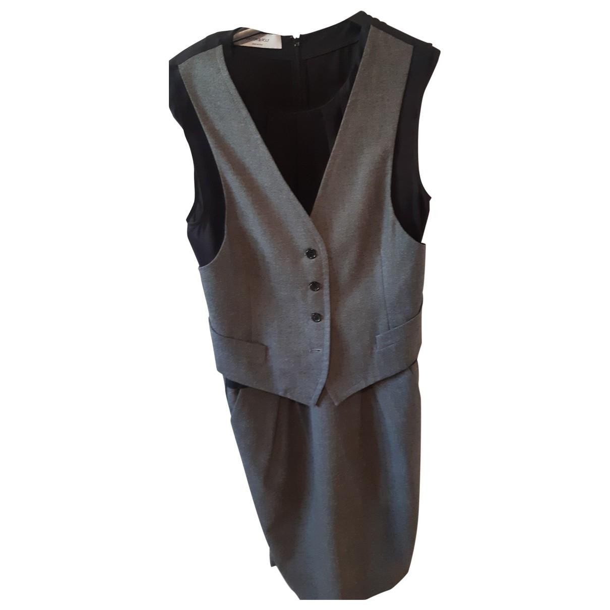 Viktor & Rolf \N Kleid in  Grau Wolle