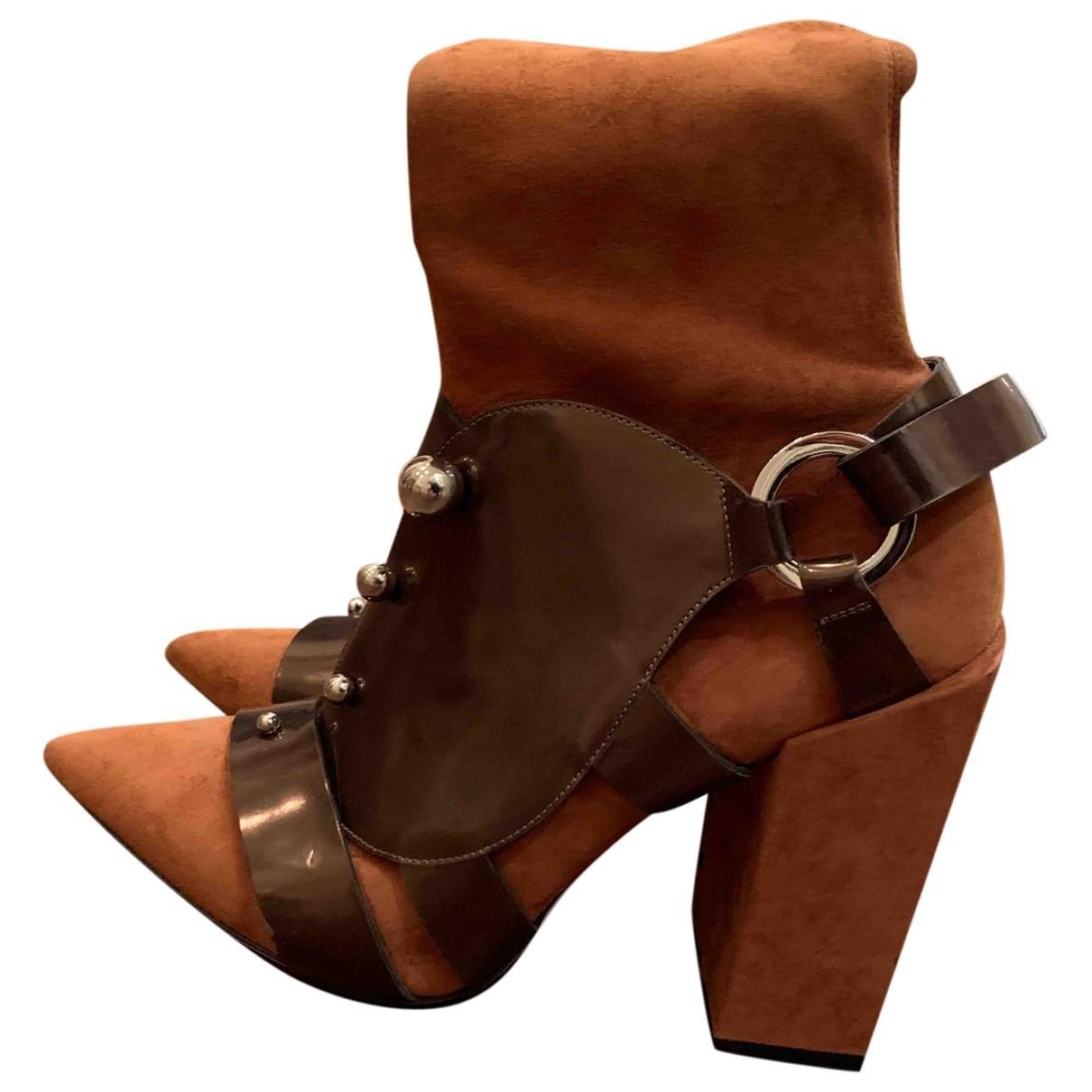 Peter Pilotto - Boots   pour femme en suede - marron