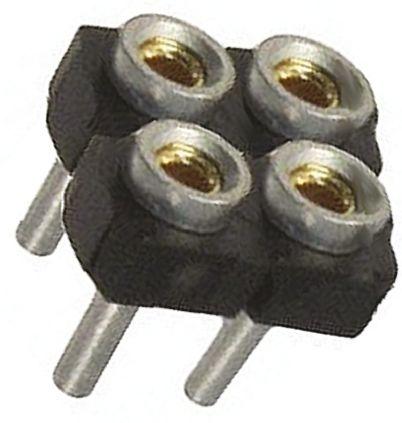 Samtec , SDL 2.54mm Pitch 4 Way 2 Row Straight PCB Socket, Through Hole, Through Hole Termination