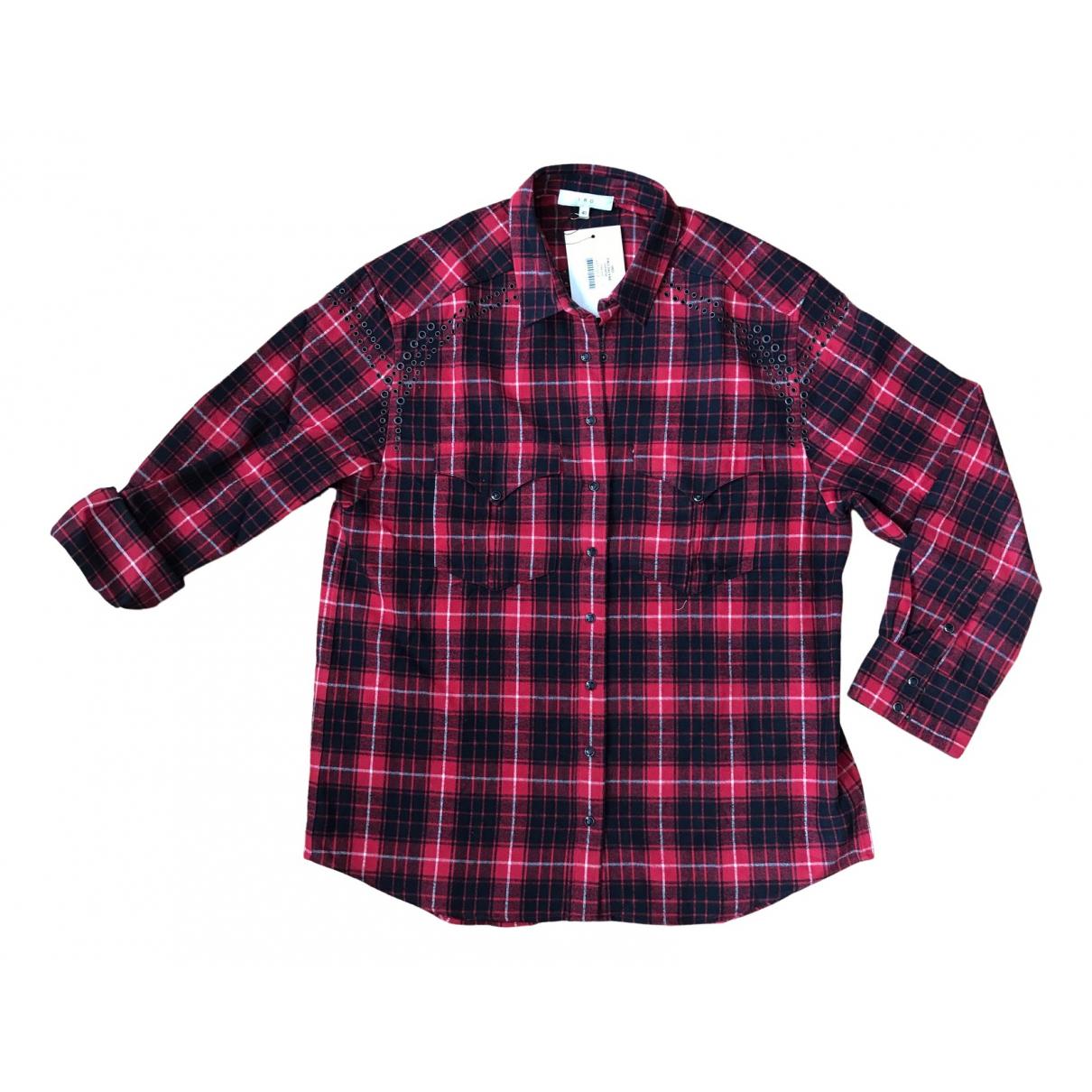 Iro - Top   pour femme en coton - rouge