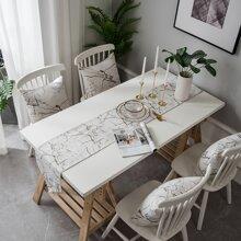 Camino de mesa con patron de marmol 1 pieza