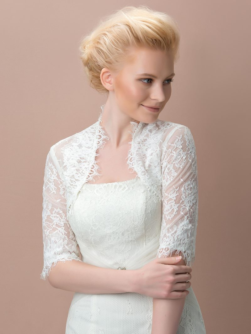 Lace Half Sleeves Wedding Jacket