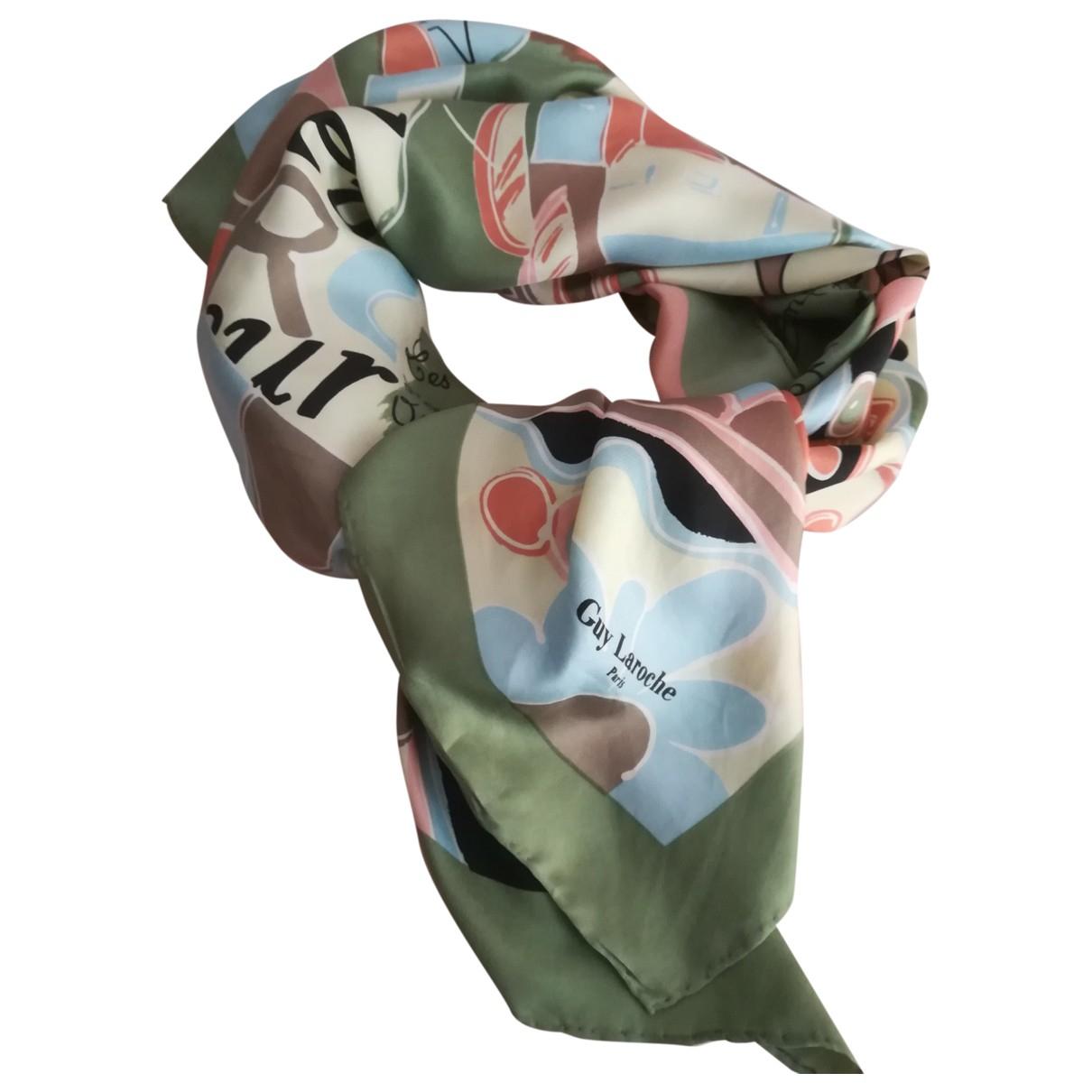 Guy Laroche - Carre   pour femme en soie - multicolore
