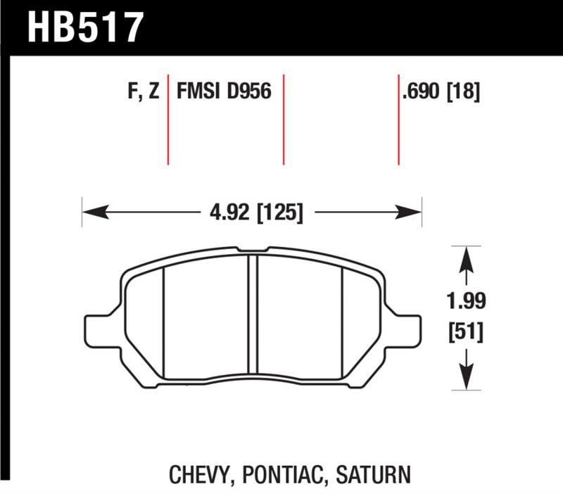 Hawk Performance HB517Z.690 Disc Brake Pad Front