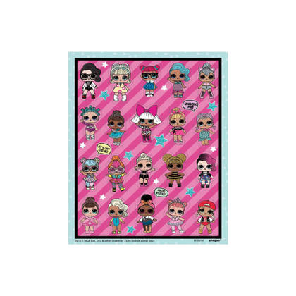L.O.L.Surprise 4 Sticker Sheets/Favors For Birthday Party