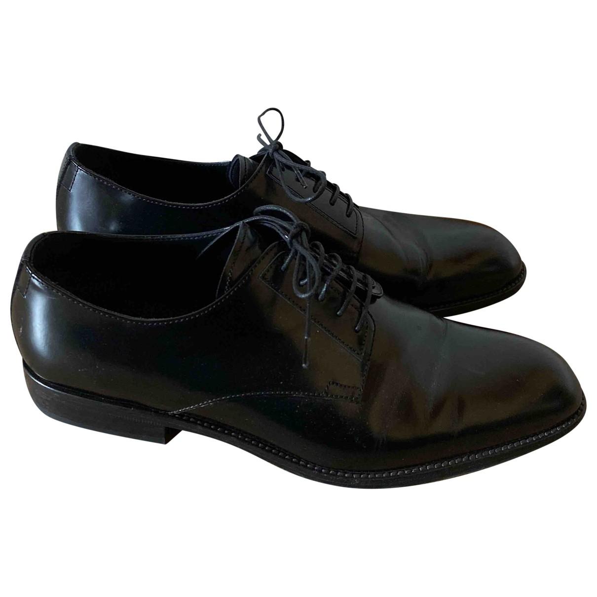 Ermanno Scervino \N Black Leather Lace ups for Men 42 EU