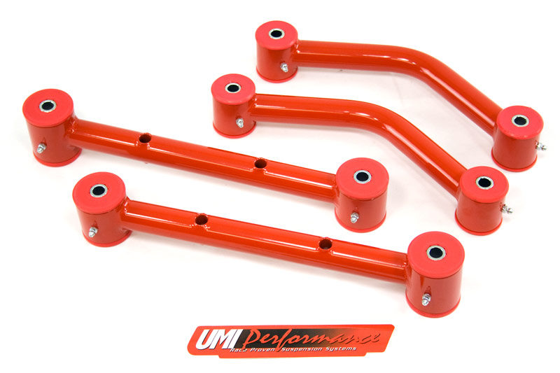 UMI Performance 501518-R 1971-1975 GM H-Body Upper & Lower Control Arm Kit