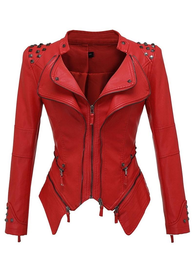 Ericdress Zipper Standard Slim PU Jacket