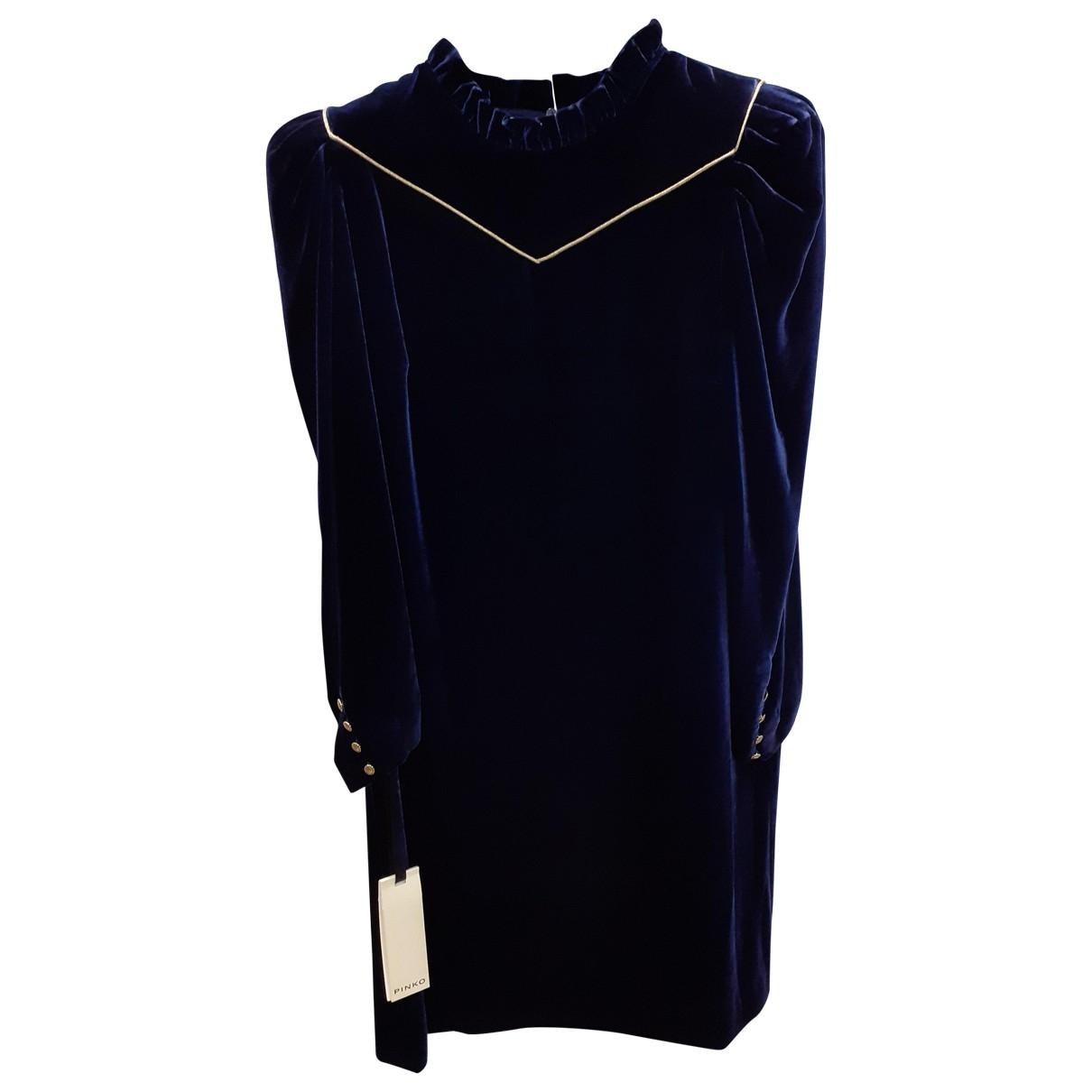 Pinko \N Blue Velvet dress for Women 40 IT