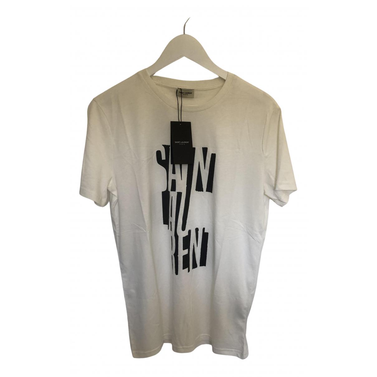 Saint Laurent \N T-Shirts in  Weiss Baumwolle