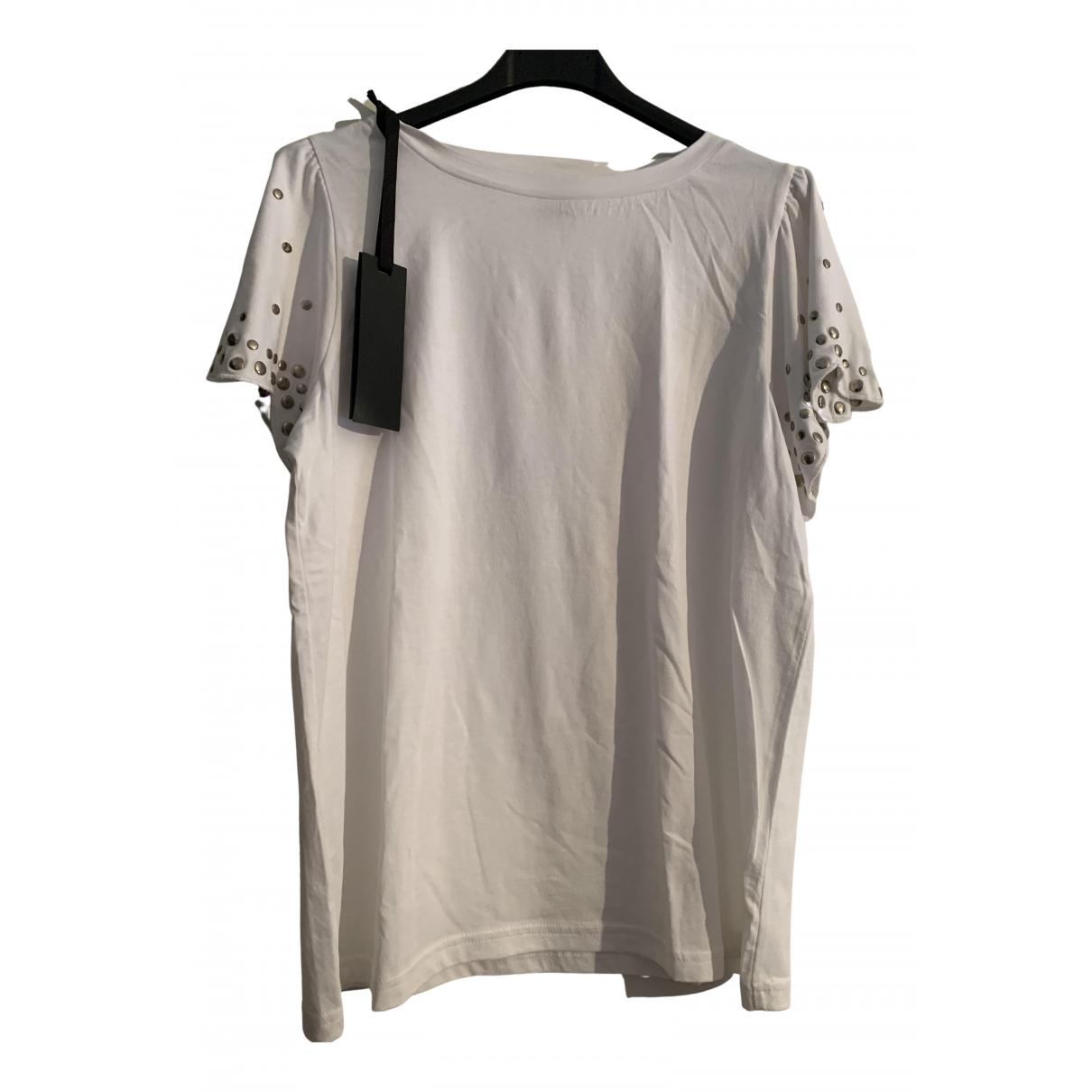 Pinko N White Cotton  top for Women L International