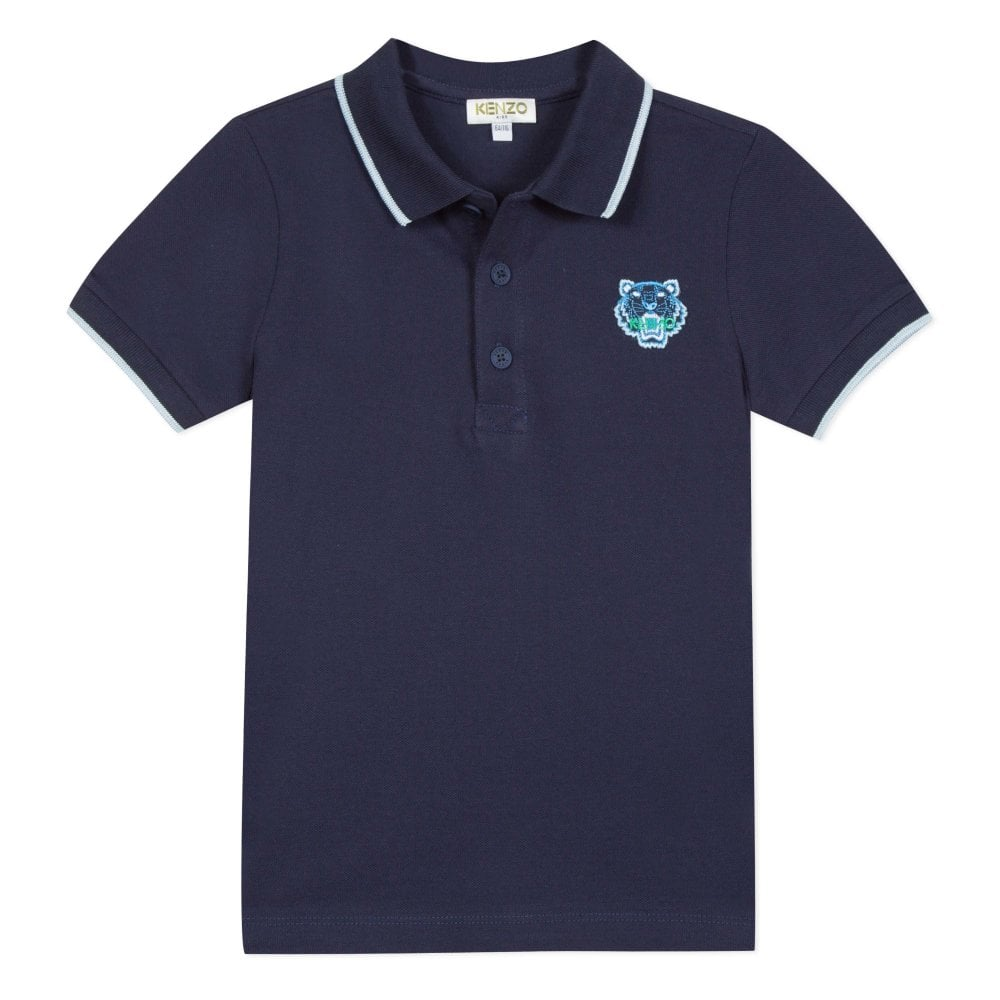 Kenzo Kids Small Tiger Logo Polo Navy Colour: NAVY, Size: 6 YEARS