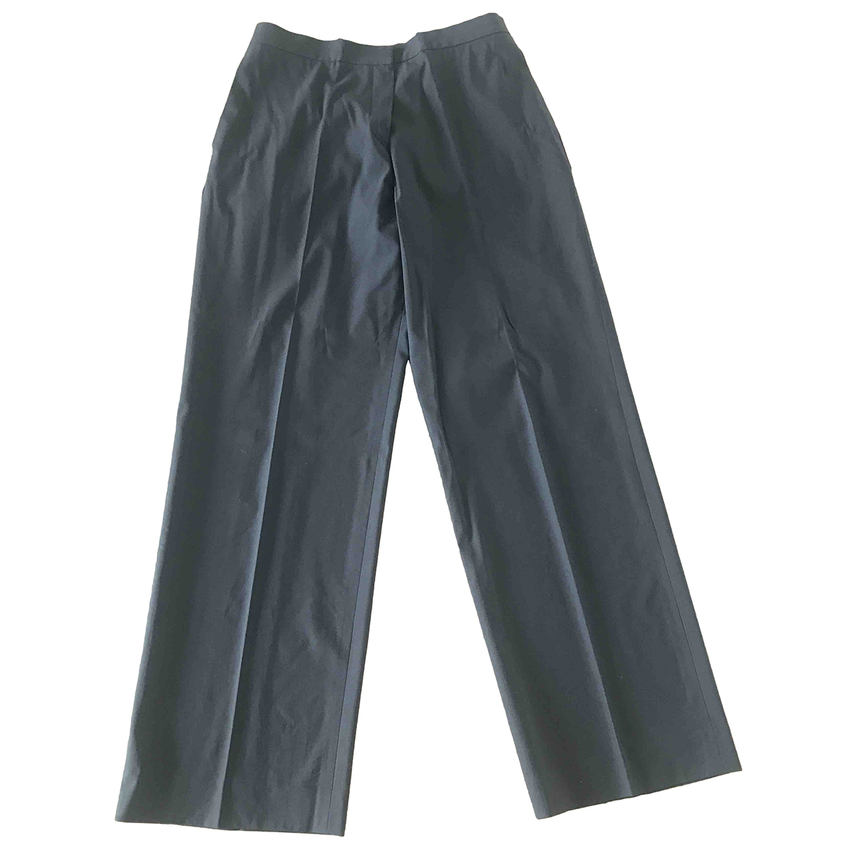 Jil Sander \N Brown Wool Trousers for Women 46 IT