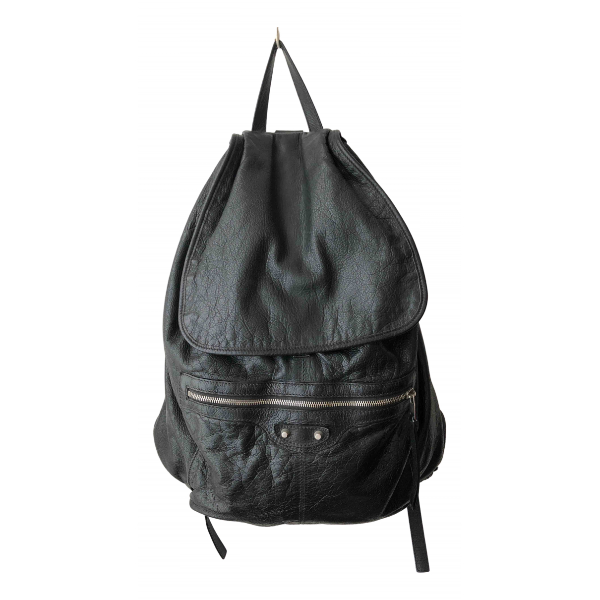 Balenciaga - Sac a dos   pour femme en cuir - noir